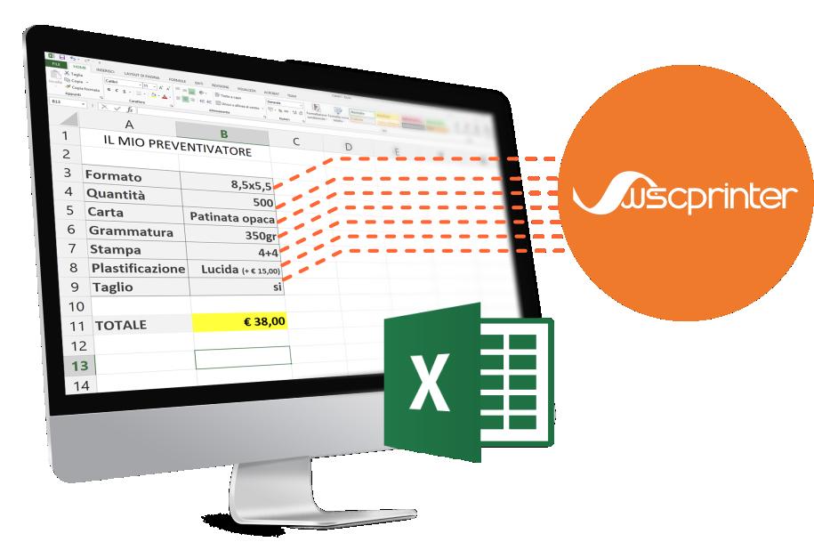 Utilizza il tuo foglio Excel per calcolare i tuoi preventivi online