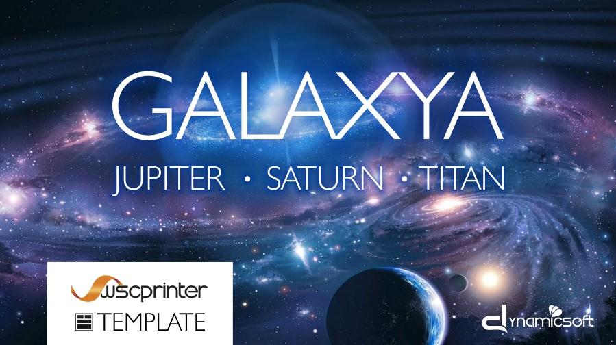Galaxya, il nuovo template grafico di Wsc Printer