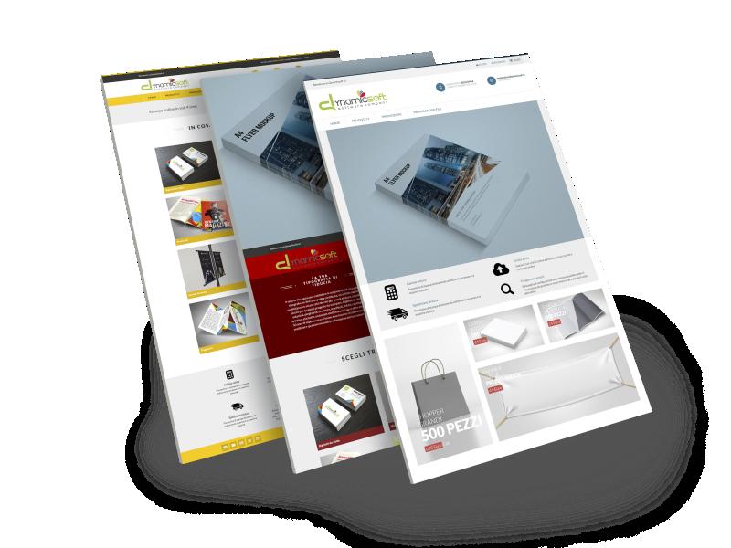 Gestione dei template web to print