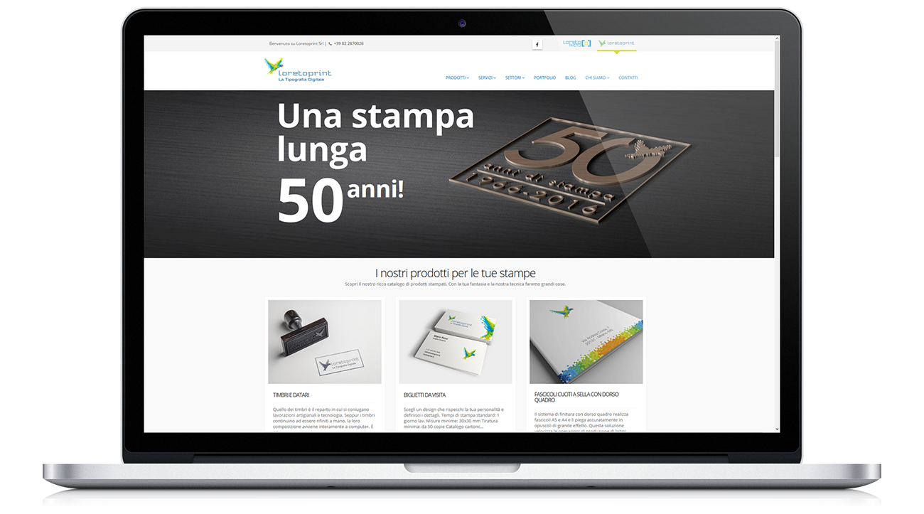Redesign sito web Loretoprint