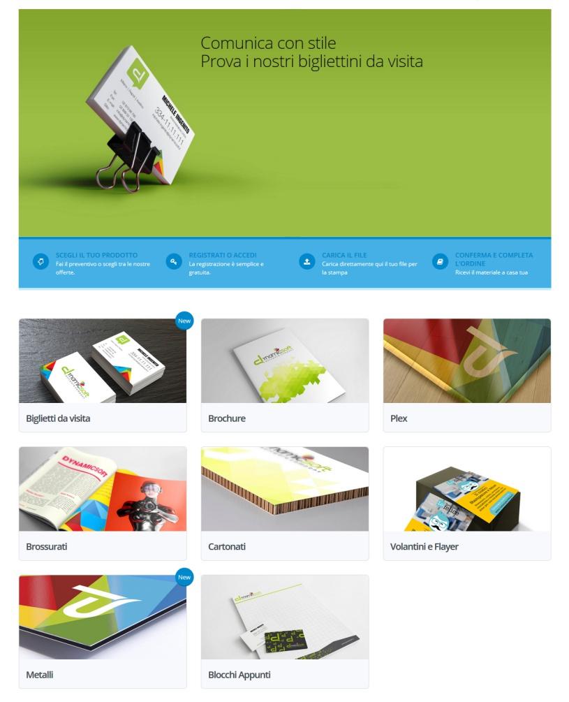 web to print per la stampa - template quattro