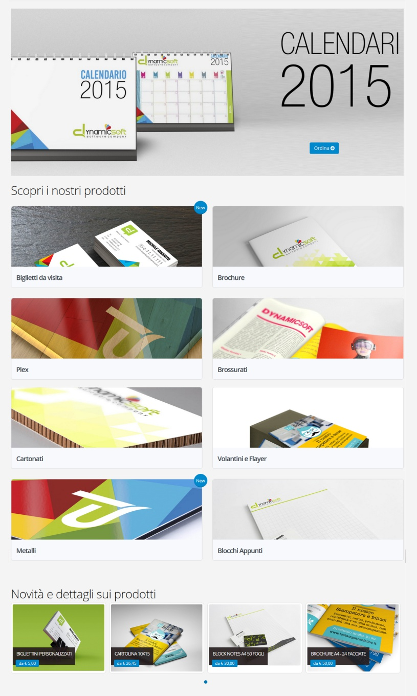 web to print per la stampa - template cinque