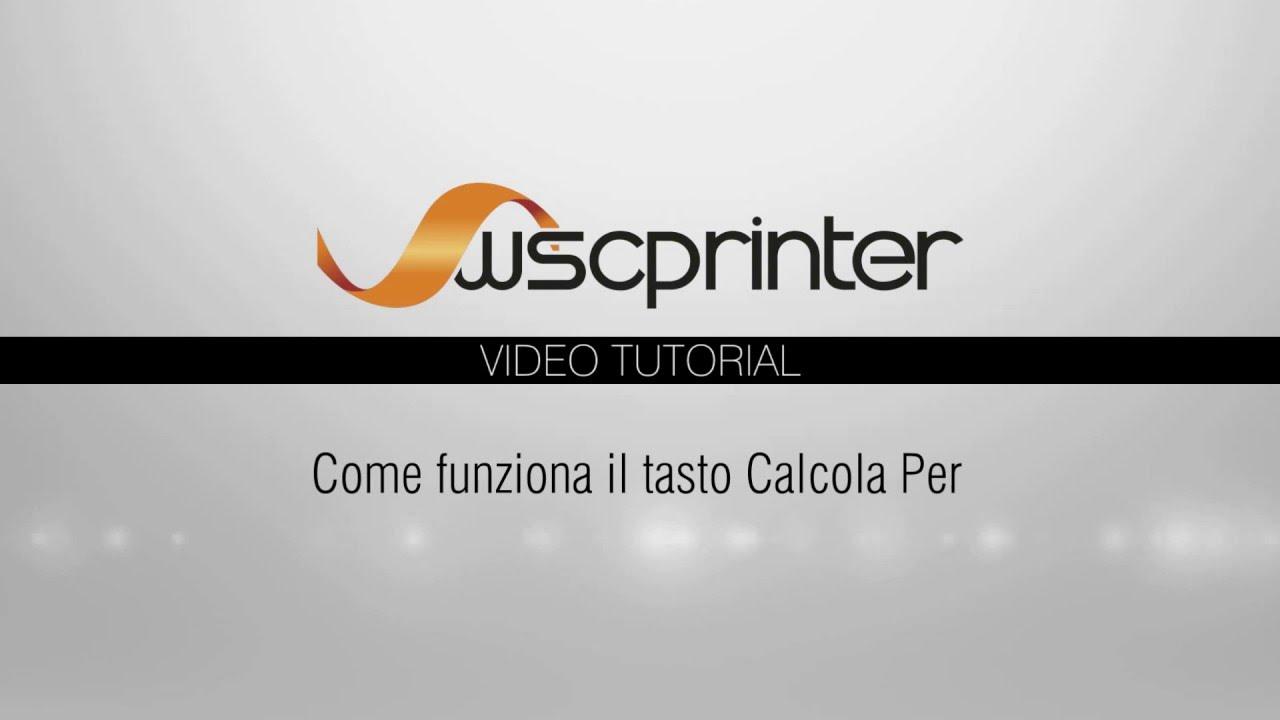 Wsc Printer - Preventivo - Calcolo quantitativi multipli