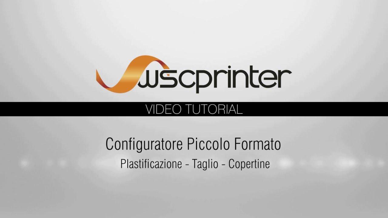 Wsc Printer - Plastificazione, Taglio, Copertina