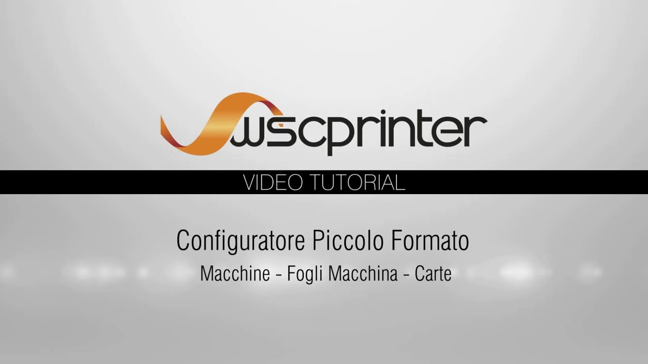 Wsc Printer - Macchine, Fogli macchina, Carte